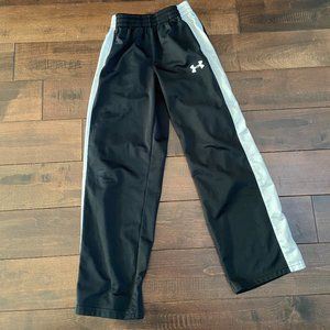 Under Armour Athletic Pants Black/White YOUTH M